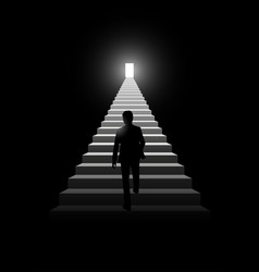 Stairway to success vector