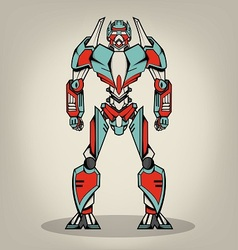 Super war robot vector