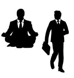 The outline of a man in a suit vector image vector image