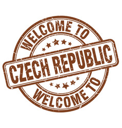 Welcome to czech republic vector