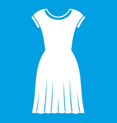 Woman dress icon white vector