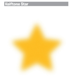Halftone star vector