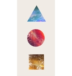 Beautiful composition triangle round square vector