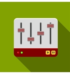 Sound mixer icon vector