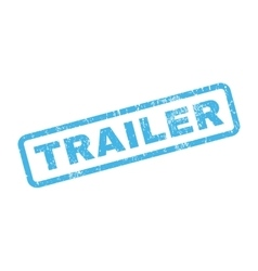 Trailer rubber stamp vector