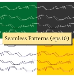 Seamless abstract horizontal lines patterns vector