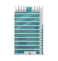 Unfinished building some floors with glasses vector