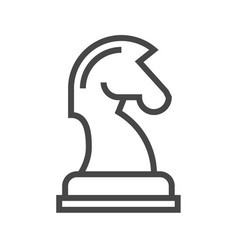 horse chess thin line icon vector image