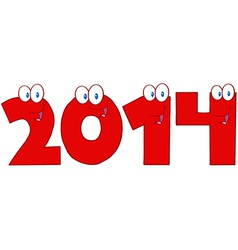 2014 new year numbers vector