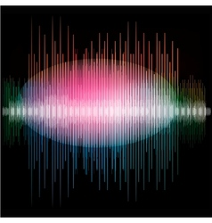 Sharp colorful waveform vector image