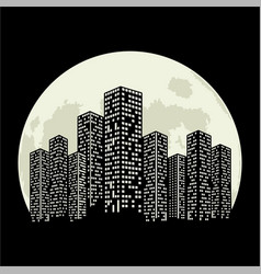 City moon vector