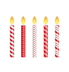 Red Birthday Candles vector image