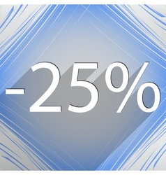 25 percent discount icon symbol Flat modern web vector image