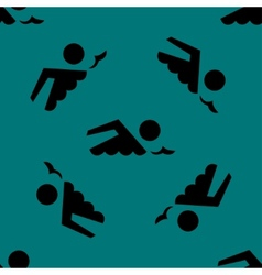 Swimmer pool web icon flat design seamless gray vector