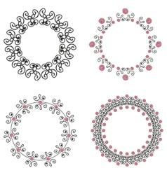 Set of four ornate vintage frames vector image