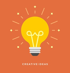 Flat design business concept creative idea vector