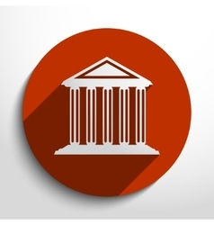 Bank school university building web icon vector