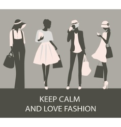 Sihlouette of fashion woman vector image
