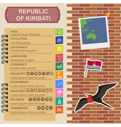 Kiribati infographics statistical data sights vector