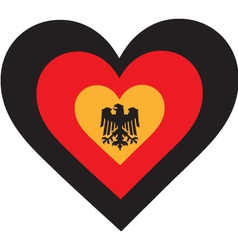 Germany Heart vector image