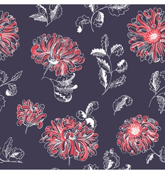 Floral sketchy seamless pattern vector