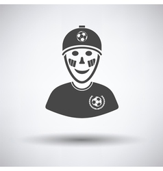 Football fan with painted face by italian flags vector