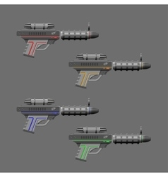 Video game weapon rifles set vector
