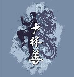 kungfu vector image
