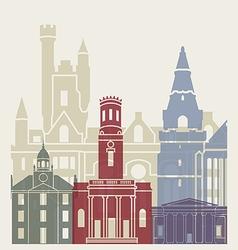Aberdeen skyline poster vector