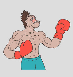 boxing man vector image vector image