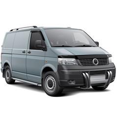 Cargo van with roo bar vector