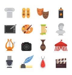 Design and art skill icons artistic entertainment vector