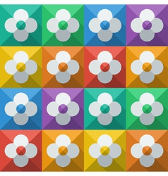 Flowers in flat icon style vector image vector image