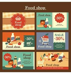 food shop cards vector image vector image