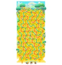 Honeycomb children game vector