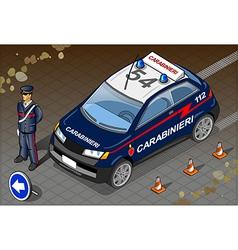 Isometric italian carabinieri police car vector