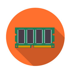 mini ddr ram icon vector image
