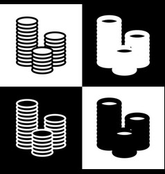 Money sign black and white vector
