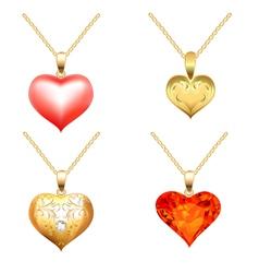 Precious Jewels Pendants vector image vector image