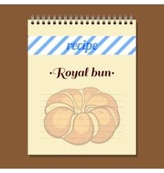 Recipe book royal bun vector