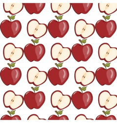 Red apple pattern vector image vector image