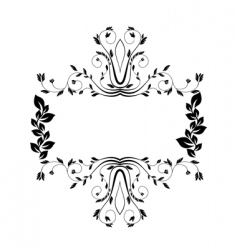 royal floral frame illustration vector image vector image
