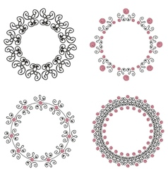 Set of four ornate vintage frames vector image