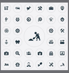 Set of simple fixing icons vector