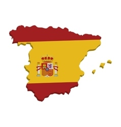 spain map geography isolated icon vector image vector image