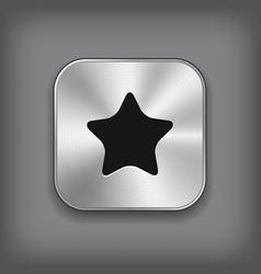 Star icon - metal app button vector image vector image