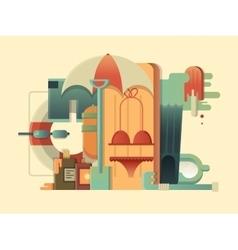 Summer concept design flat vector image