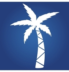 Summer icon on blue background- palm Logo design vector image