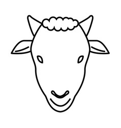 Thin line sheep icon vector