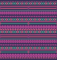 tribal texture geometric seamless pattern vector image